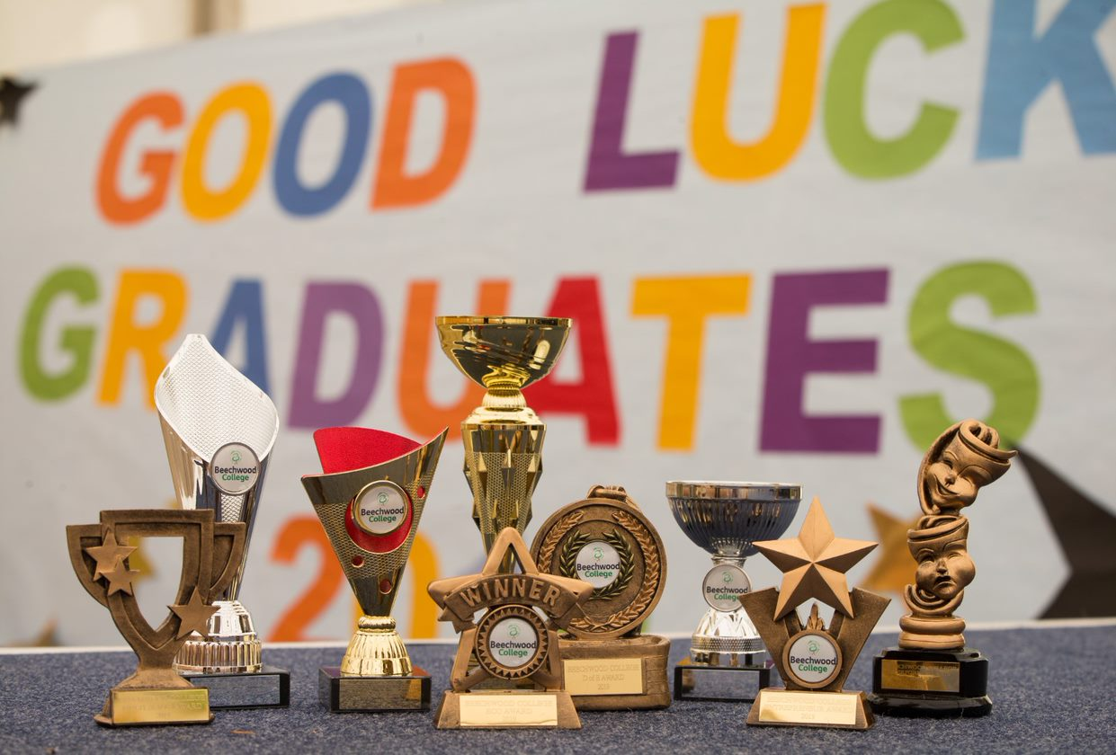 A table of Awards at Beechwood College