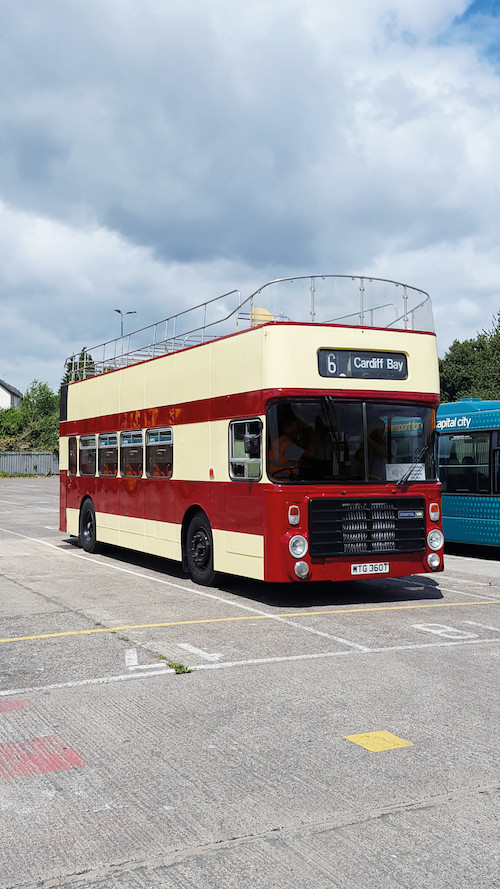 Cardiff Bus 'goes back in time' with vintage open top service for the summer