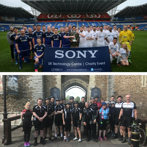 Sony UK TEC charity challenges raise £6k for children's ward